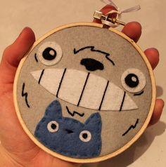 Geek Art Gallery: Crafts: Studio Ghibli Embroidery