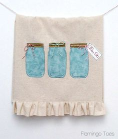Can It! Mason Jar Dishtowel » Flamingo Toes