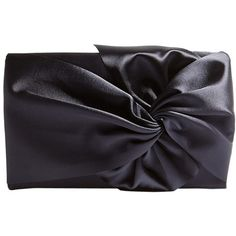 Karen Millen Oversized Bow Clutch Bag (90 AUD) ❤ liked on Polyvore featuring bags, handbags, clutches, navy, evening purses clutches, bow purse, navy wristlet, evening handbags and wristlet purse