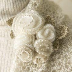 crochet flower brooch