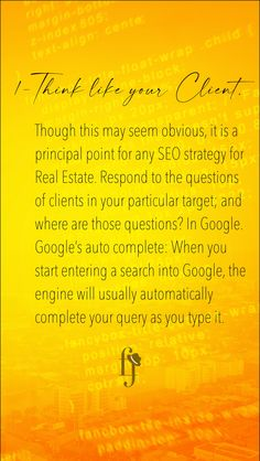 Though this may seem obvious, it is a principal point for any SEO strategy for Real Estate. Respond to the questions of clients in your particular target; and where are those questions? In Google. Google's auto complete: When you start entering a search into Google, the engine will usually automatically complete your query as you type it.  #realestateagent  #property  #luxuryrealestate  #realty #milliondollarlisting  #investment  #luxuryhomes  #dreamhome  #properties Google Google, Seo Strategy, Local Seo, Seo Marketing, Seo Tips, Read More, Like You, Engine, Investing
