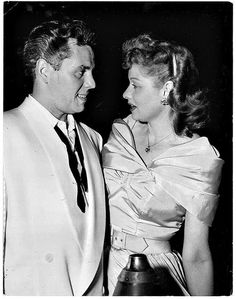 Candid Photo of Lucy & Desi c.1940s