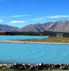 Lake Tekapo, New Zealand  ..and it´s not photoshop, the lake really has this color, it´s that blue! :)
