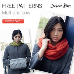 The muff just looks silly, but the cowl is gorgeous!