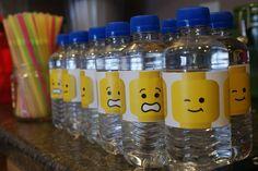 Lego water bottle labels