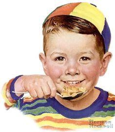 Illustration of boy, 1954 (artwork by Norman Rockwell) Norman Rockwell Prints, Norman Rockwell Paintings, The Saturdays, Pop Art, Vintage Illustration, Vintage Pictures, Vintage Images, Retro, American Artists