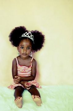 Little girl natural hairstyle | Black Women Natural Hairstyles