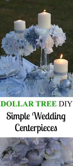 Dollar Tree Wedding Centerpieces!