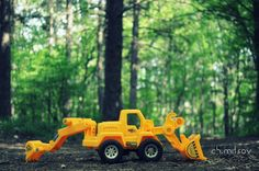 Toy truck in the woods by Kristiyan Mitsov on 500px
