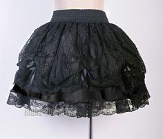 Sexy-Gothic-Black-Lace-Lolita-Mini-Skirt-Sz-S-6XL-Punk-Ruffles-Tiered-MMS-A2488