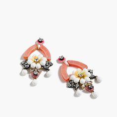 J.Crew+-+Floral+earrings