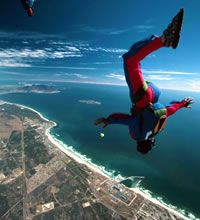 Sky diving over Cape Town, South Africa. BelAfrique - Your Personal Travel Planner - www.belafrique.co.za