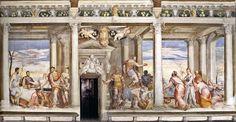 Giovanni Antonio Fasolo, Castello Porto Colleoni Thiene, Cleopatra's Banquet - The Continence of Scipio