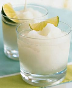 frozen lemonade with coconut rum cocktails is a cold and refreshing drink that will be served in the garden for the guests because its going to be a very hot day.
