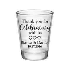 """100x Shot Glasses Custom Wedding Favor 