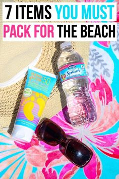7 beach essentials you should always take with you to the beach, not just during the summer. Great list for women, for teens, for a family beach vacation, or even just a weekend at the beach. I'm definitely going to add these to my beach packing list!