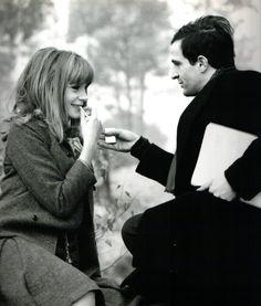 Françoise Dorléac & Truffaut. Photographie de Raymond Cauchetier sur le tournage de La Peau douce (1964)