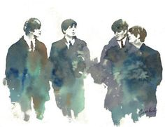 The Beatles in water color