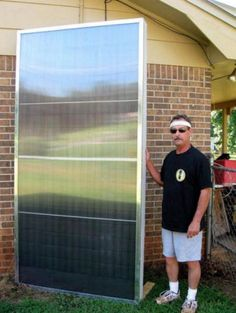 Greg's Pop-Can Solar Space Heating Collector download free plans here: www.builditsolar....