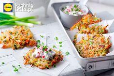 Placki ziemniaczane z kapustą oraz dipem z rzodkiewki i rzeżuchy.  Kuchnia Lidla - Lidl Polska. #lidl #ryneczeklidla