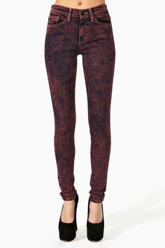 Acid Queen Skinny Jeans   $39 (On Sale was 78 Dollars)