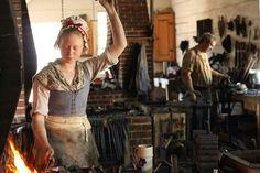 Blacksmithing in Historic Williamsburg