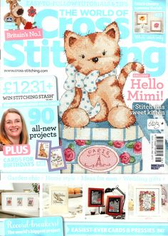 The World of Cross Stitching Issue 216 patterns pinned Cross Stitch Magazines, Cross Stitch Books, Cross Stitch Heart, Cross Stitch Cards, Cross Stitching, Cross Stitch Embroidery, Magazine Cross, Book And Magazine, Cross Stitch Designs
