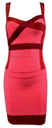 Two Tone Colour Block Bodycon Dress