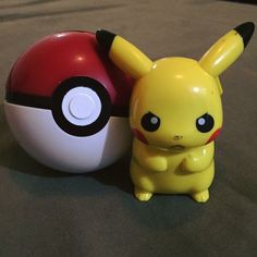 Pikachu & Pokeball.