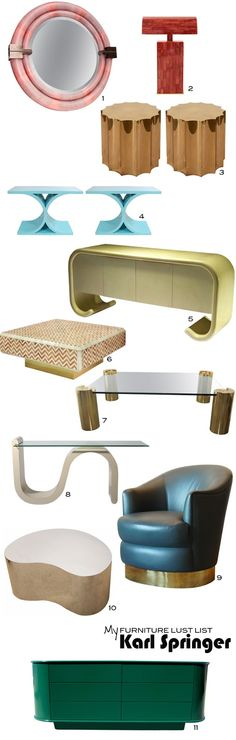 Mimosa Lane: My Furniture Lust List || Karl Springer