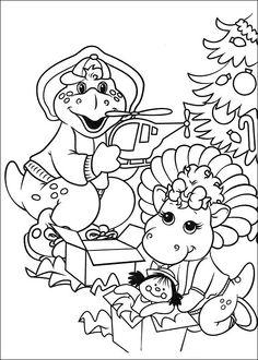Barney och vänner Målarbilder för barn. Teckningar online till skriv ut. Nº 21