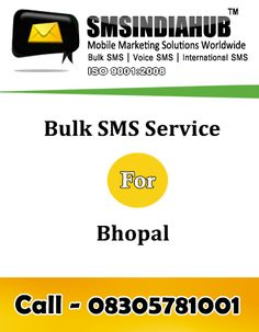 Bulk SMS gateway for Bhopal is the tool to send Bulk SMS via internet to the people on the handheld device. Bulk SMS Gateway is also alow you to upload the excel sheet, notepad file to send messages in bulk via pressing few button of your keyword.