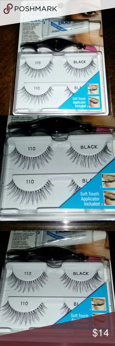 ea6324305a3 Ardell Deluxe Pack 110 Black Eyelashes Duo Glue Kit includes: 1 Lash  Applicator 1 Duo