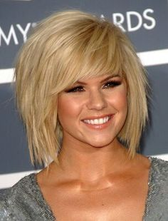blond hair, woman, haircut