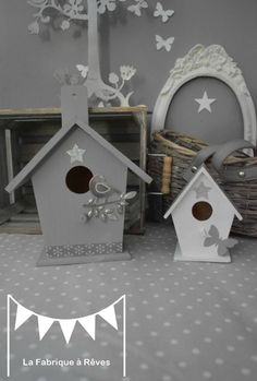1000 images about maisons oiseaux on pinterest birdhouses bird houses and - Decoration cage oiseau ...
