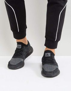10f8711c63cd adidas Originals Swift Run Primeknit Sneakers In Black CG4127 Black Socks