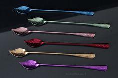 Vintage Cocktail Spoons Stirrers Swizzle Sticks by cobaltblau2013