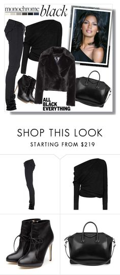 """""""All Black Everything"""" by teah507 ❤ liked on Polyvore featuring Hudson Jeans, Tom Ford, Rupert Sanderson, Givenchy, Diane Von Furstenberg and allblackoutfit"""