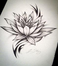 Lotus Tribal Tattoo (The Lotus) by J-Kings-Art on DeviantArt