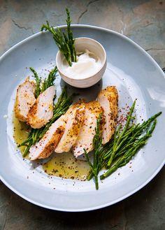Pollo asado con salicornia #Recetas #FoodAndTravelMX