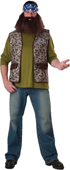 men's costume: duck dynasty willie