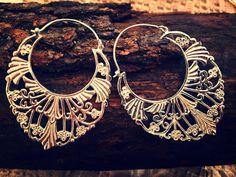 Orecchini India in ottone placcato argento