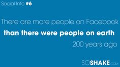More people on Facebook than there were people on earth 200 years ago...