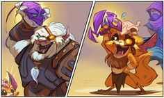 Rengar is Gnar's role model... Gnar will be Rengar's role model when his rage gene activates and he's Mega Gnar! :P