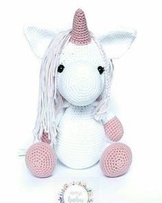 Stuffed unicorn. Big unicorn. Nursery decor. Crochet Baby Toys, Nursery Decor, Hello Kitty, Etsy, Stuffed Unicorn, Unique Jewelry, Handmade Gifts, Kids, Animals