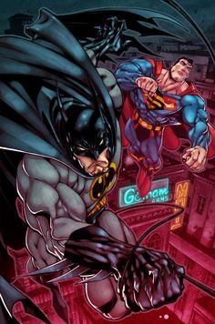 Batman and Superman by *Zatransis