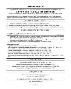 Prosecutor Resume Example | Resume Examples | Pinterest | Resume ...