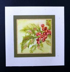 FF16hbrown Berries in the Snow by hobbydujour - Cards and Paper Crafts at Splitcoaststampers