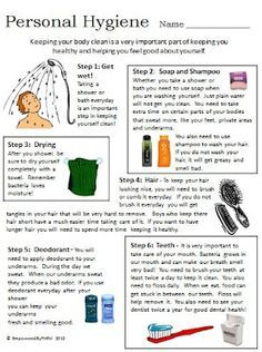 Worksheets Personal Grooming Worksheets empowered by them personal hygiene life skills pinterest comes with additional worksheet perfect for middle school students