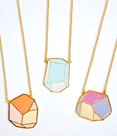 Geometric Rock Necklace